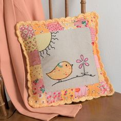 Sew bright and cheery - this little bird will bring sunshine to any room!