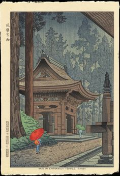 Resultado de imagen para japanese rain temple
