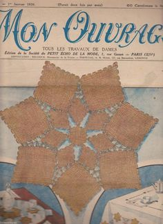 This looks like pin-loom woven squares connected with needle lace.  From this 1936 French needlework magazine: Mon Ouvrage N° 309