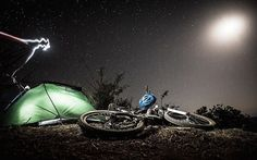 Bike packing under the stars