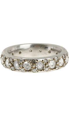 Zoe Platinum & Diamond Eternity Band