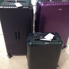 Rimowa Salsa Sporty (the left one), the best choice for riders, who need to travel with their safety gears.