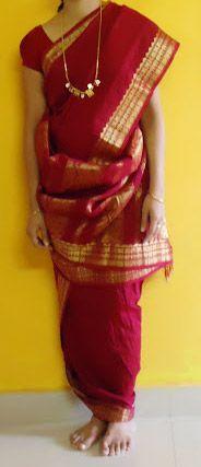 Madisar Saree - Iyengar Madisar South Indian Wedding Saree, Saree Wedding, Madisar Saree, Indische Sarees, Casual Professional, Indian Bridal Hairstyles, Indian Outfits, Indian Clothes, Saree Styles