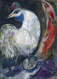 Marc Chagall - Between Surrealism & NeoPrimitivism - 'Le Coq' (1947)