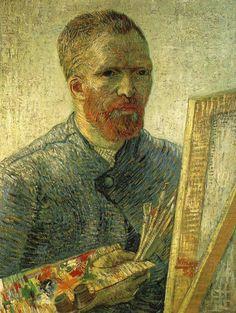 Van Gogh self portrait as an artist - Vincent van Gogh