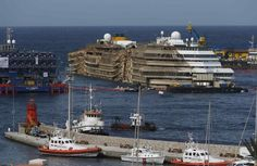 Costa Concordia salvage, uprighted and getting closer to going for salvage....⚓️