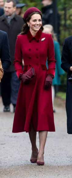 Catherine, Duchess of Cambridge attend Christmas Day Church service at Church of St Mary Magdalene on the Sandringham estate on December 2018 in King's Lynn, England. Get premium, high resolution news photos at Getty Images Kate Middleton Dress, Kate Middleton Style, Kate Middleton Fashion, Duchess Kate, Duchess Of Cambridge, Elie Saab Dresses, Catherine Walker, Royal Fashion, Style Fashion