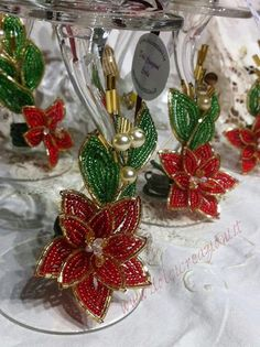 Beaded flowers fiori di perline
