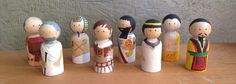 Ancient History Peg Dolls by RowhouseKids on Etsy