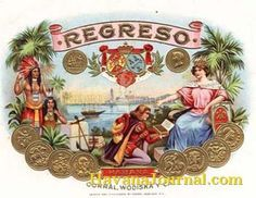 La Preferida Vintage Cuban Cigar Box Labels | Cuban Cigar Art | antique victorian pinup cuban cigar box label 1905 ...