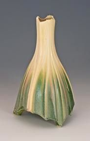 "Newman Ceramic Works - Bell Flower Vase Shown here is the Bell Flower Vase from Newman Ceramic Works. It's gorgeous Sage glaze makes this piece really stand out. Measures 9""H x 5""W"
