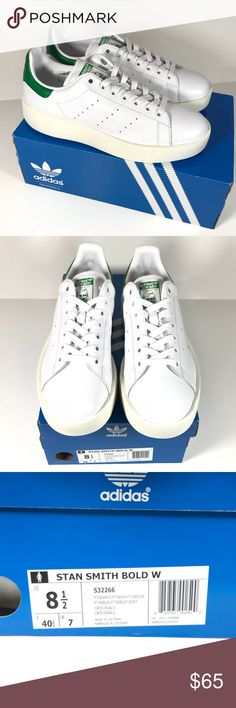 Adidas Originals Stan Smith Bold Women's Size 8.5 Adidas Originals Stan Smith Bold Women's Size 8.5 Shoes   Size: 8.5  Color:  White/Green adidas Shoes Sneakers
