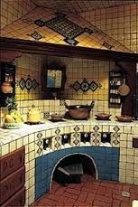 Cocinas Mexicanas Tradicionales - All photos © Melba Levick La Fuente Imports… Mexican Style Homes, Mexican Style Kitchens, Mexican Home Decor, Spanish Style Homes, Spanish House, Mexican Kitchen Decor, Spanish Colonial, Mexican Hacienda, Hacienda Style