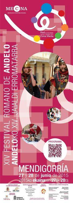Festival Romano de Andelos, en Mendigorría, #Navarra. Un festival consagrado a recrear la vida en Andelos hace 2000 años y a divulgar la riqueza histórica de la localidad.