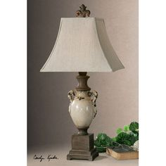 """Uttermost 27437 Francavilla Ceramic Table Lamp Not that hard to find a lamp close enough to this one for $25 or less at a local consignment store. But it sure works for """"French Country."""" Just not $217.80 worth, IMHO!"""