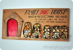 Who's in the doghouse?....we had one just like this growing up....and guess who always in the doghouse?  tada!!! :0)