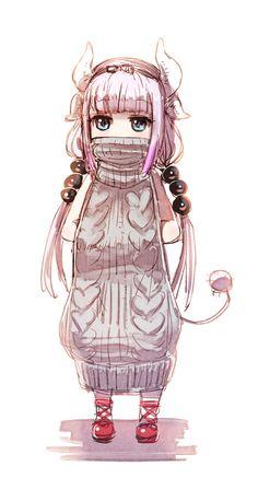 miss kobayashi's dragon maid Lucoa sweater Kawaii Cute, Kawaii Girl, Kawaii Anime, Chibi, Art Anime, Anime Manga, Virgin Killer Sweater, Lolis Neko, Character Art