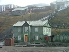 The dock house in Barentsburg,Svalbard Norway Places To Visit, Dock House, Svalbard Norway, Free Travel, Archipelago, Continents, Arctic, Tourism, Turismo