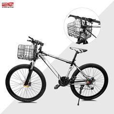 Arltb Lift Off Folding Bike Basket Rust Proof Easy Installation on Front Handlebar and Rear Seat Capacity 44lbs Suitable Folding Bikes Some Mountain Bikes  Black/Silver -- Visit the image link more details. (Note:Amazon affiliate link) Lift Off, Cycling Equipment, Rear Seat, Mountain Biking, Black Silver, Rust, Image Link, Bicycle, Basket