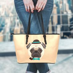 Cute Baby Pug Dogs Handbag //Tote Bag //Shoulder Bag for Women