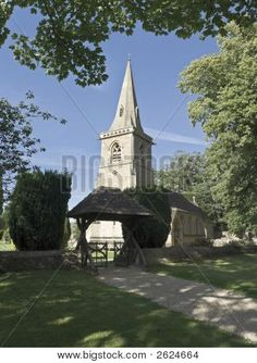 The church at Lower Slaughter, Gloucestershire, England