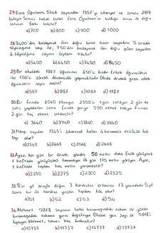 Math Equations