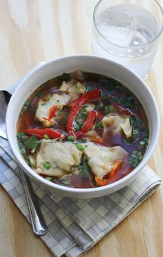 It's soup season guys. We recently posted about ten of our favorite soup recipes. And, it got me thinking. I really loved this asian style dumpling soup. It's the dumplings, really. Love them. It kind