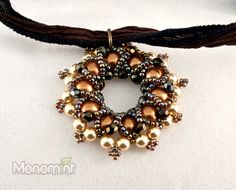 Pendant Beading Pattern PDF Bagels by Monomint on Etsy