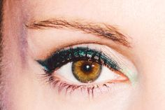 Green Eyeliner Will Totally Change Your Look -- The Cut