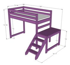 Build A Loft Bed With Stairs Etc