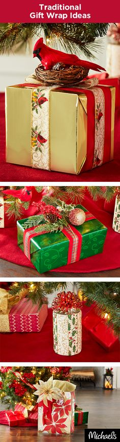 Take your presents to the next level with these extravagant, but easy gift wrap ideas. Add multiple ribbons, an ornament or a floral stem and you'll wow the recipient before they even get to see what's inside. Get more unique gift wrapping ideas on Michaels.com