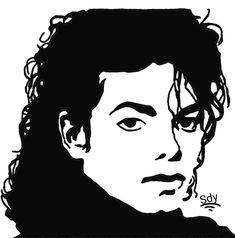 Michael Jackson Crochet Graphghan Pattern (Chart/Graph AND Row-by-Row Written Instructions) - 06 Michael Jackson Drawings, Michael Jackson Art, Michael Jackson Silhouette, Stencil Art, Stencils, Black Art, Black And White, Silhouette Art, Superman Silhouette