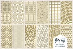 Check out 12 x EPS JPG Art Deco3 Gold Patterns by Fizzy Images on Creative Market