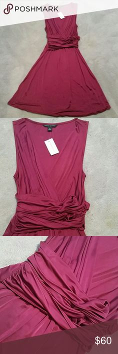 NWT Banana Republic Grecian Dress sz Small Gorgeous deep magenta Grecian style dress size small, brand new w tags, never worn from a smoke and pet free home  This will not fit my mannequin for modeling purposes, draped deep v-neck, waist sash does not untie or remove,100% rayon Approx Measurements :  Bust 13\