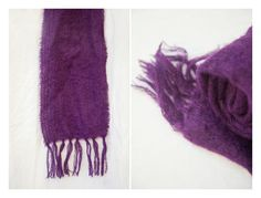 Grape Purple Mohair Scarf by Thrifty Magpie Magpie, Pretty Woman, Thrifting, Vintage Outfits, Purple, Hair Styles, Shopping, Clothes, Beauty