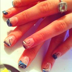 Different Glittered nail tips