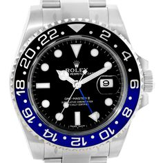 14968 Rolex GMT Master II Batman Blue Black Ceramic Mens Watch 116710 Unworn SwissWatchExpo