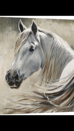 """White horse on a neutral colored background. Kentucky Wall Art by Sydney Edmunds from Great BIG Canvas. Gallop down the stretch with """"Kentucky"""", a contemporary wildlife canvas print. Find the best Sydney Edmunds wall art at Great BIG Canvas Big Canvas Art, Big Wall Art, Canvas Art Prints, Canvas Wall Art, Framed Prints, Framed Art, Horse Wall Art, Horse Artwork, Horse Paintings On Canvas"""