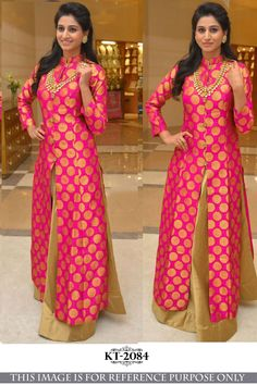 Pink And Gold Color Tapeta Silk Semi Stitched Lehenga - Silk Kurti Designs, Kurta Designs Women, Kurti Designs Party Wear, Lehenga Designs, Blouse Designs, Long Gown Dress, Lehnga Dress, Lehenga Choli, Indian Gowns Dresses