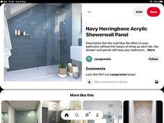 Shower Wall Panels, Blue Tiles, Bathtub, Loft, Cool Stuff, Bathroom, Standing Bath, Washroom, Bathtubs