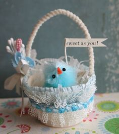 nut cup easter basket tutorial
