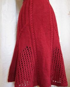 Ladies Hand Knitted Red Skirt 14