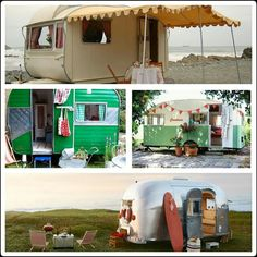 I would love to find one of these and totally refurb it. Camping Humor, Camping Glamping, Camping Stuff, Camping Ideas, Camping Hacks, Outdoor Camping, Trailer Tent, Vintage Travel Trailers, Life Is A Journey