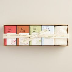 One of my favorite discoveries at WorldMarket.com: Be Well Soap Set with Wash Cloth