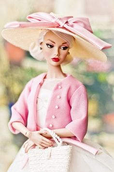 Customized Barbie in Pink hat