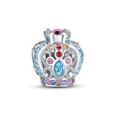 Encrusted openwork crown charm