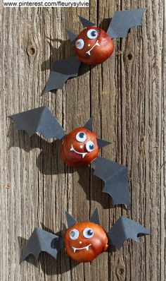 Fun Fall Crafts, Chestnuts Halloween Decorations and Craft Ideas for Kids crafts ideas crafts crafts crafts Kids Crafts, Fall Crafts For Kids, Diy For Kids, Diy And Crafts, Kids Fun, Summer Crafts, Easter Crafts, Manualidades Halloween, Adornos Halloween