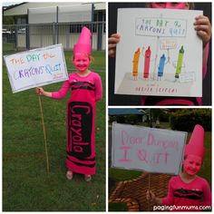 The Day the Crayons Quit Costume for Book Week!