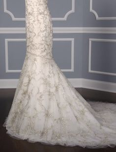 "This 100% Authentic, New Kenneth Pool Gabrielle K438 Discount Designer Wedding Dress  is such an incredible work of art!  The embroidered & beaded tulle fabric is absolutely amazing!!  You will definitely ""wow"" your wedding guests when you walk down the aisle in this stunning creation. Now up to 90% Off Retail! #kennethpool"