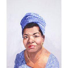 8x10 print  Maya Angelou